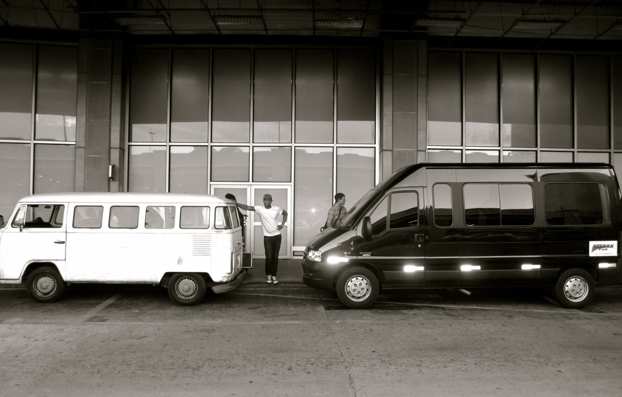 Cargo van, Greg, artist van. We were all pretty sure we'd never see our cargo again. Rio de Janeiro, BR
