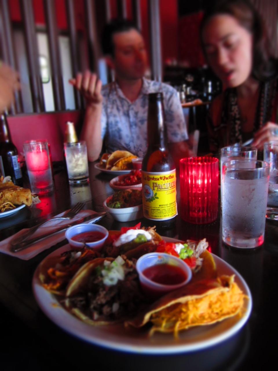 Lay-over tacos.  Malo 's. Los Angeles, CA