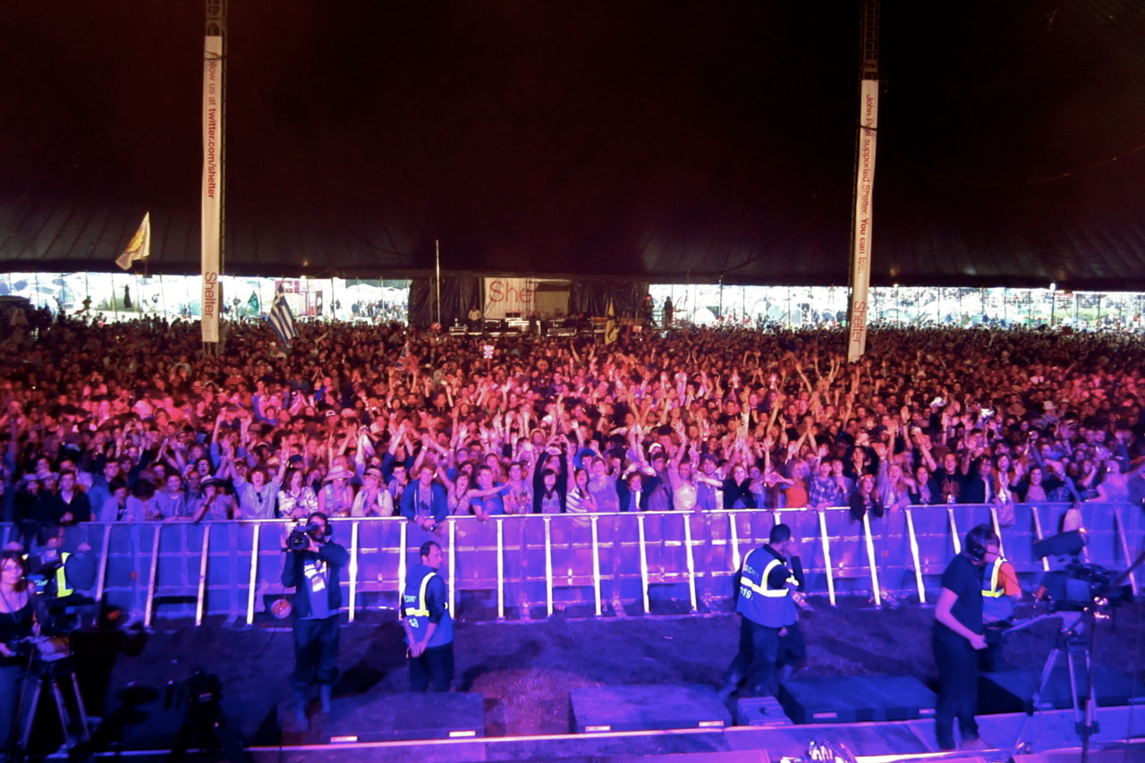 Audience, Glastonbury Festival. Pilton, UK
