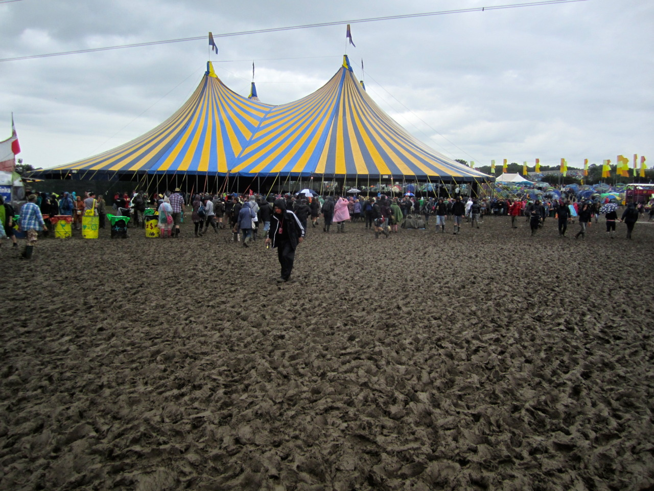 John Peel Stage, mud-moat. Glastonbury, UK