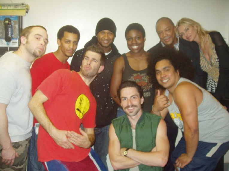 …that one time when Quincy Jones and Usher came to  STOMP . They were so kind, while keeping a safe distance from the creepy guy in the green vest with the molestache.