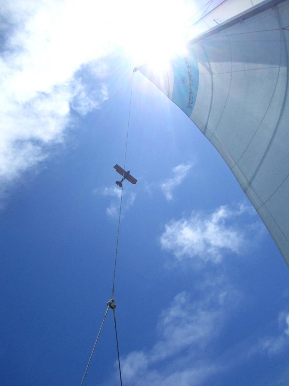 Bi-plane / sail-boat. San Diego, CA