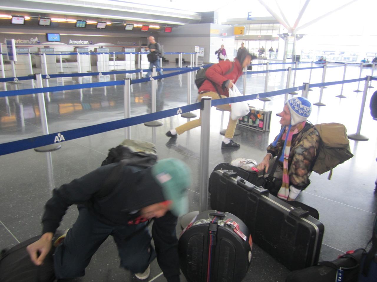Seasoned travelers (2). JFK