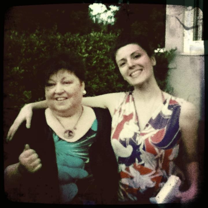 Carina and her mom. Sherman Oaks, CA