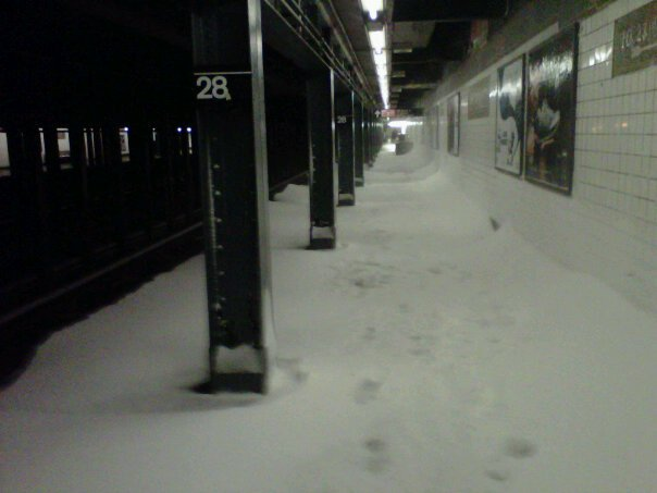 WTF is happening. - pic by Brad OFarrell Exactly what my train ride back from Brooklyn looked like on Sunday night.