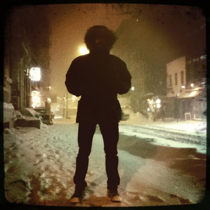 Me in blizzard. NY, NY