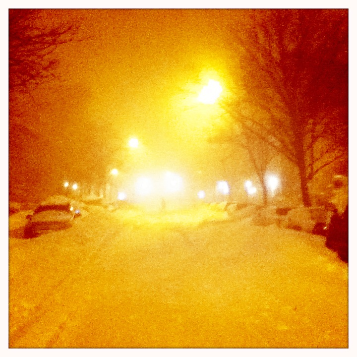 Blizzard 3am. Brooklyn, NY
