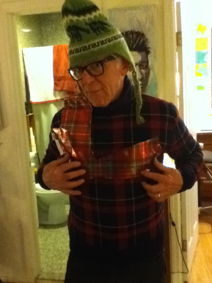My dad, in plaid. NY, NY