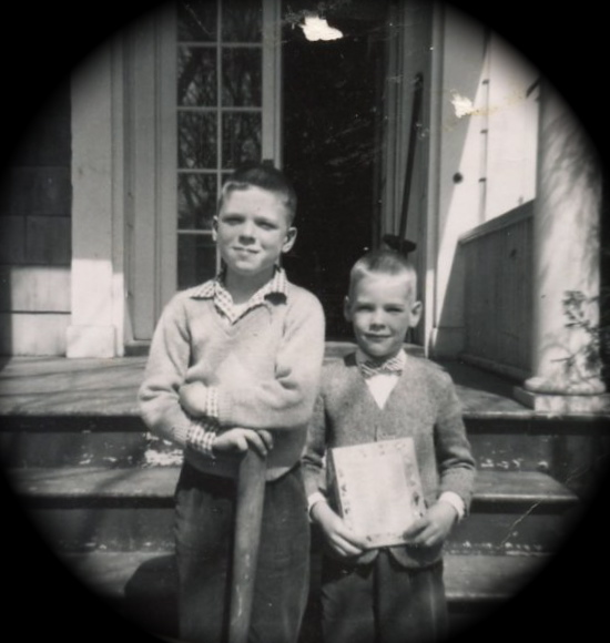My father and cousin. Oswego, NY circa 1955