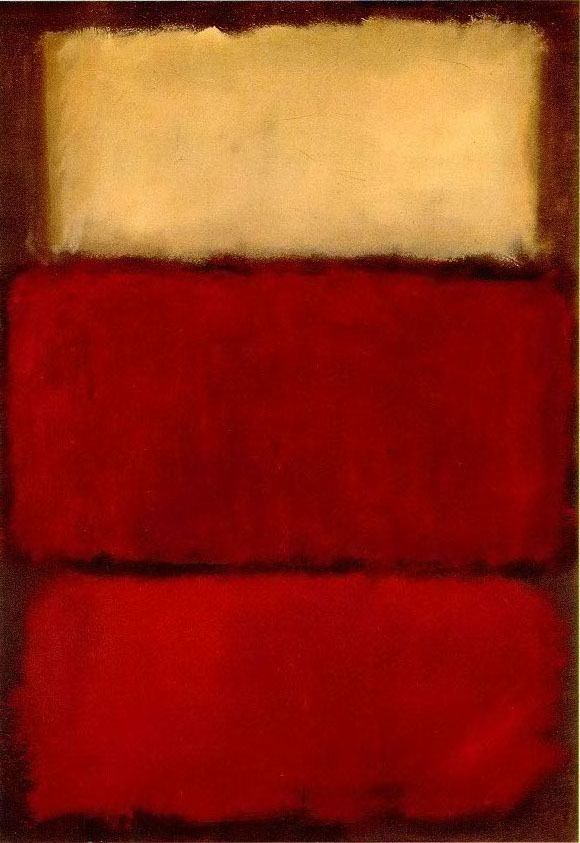 """I'm not an abstractionist. I'm not interested in the relationship of color or form or anything else. I'm interested only in expressing basic human emotions: tragedy, ecstasy, doom, and so on."" - Mark Rothko"