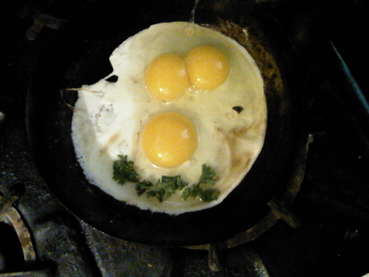 Two eggs. Three yolks. Anything is possible at Christmas.