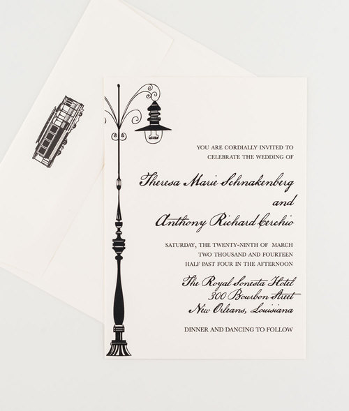 New Orleans Love Letter Wedding Invitation Collection Seahorse