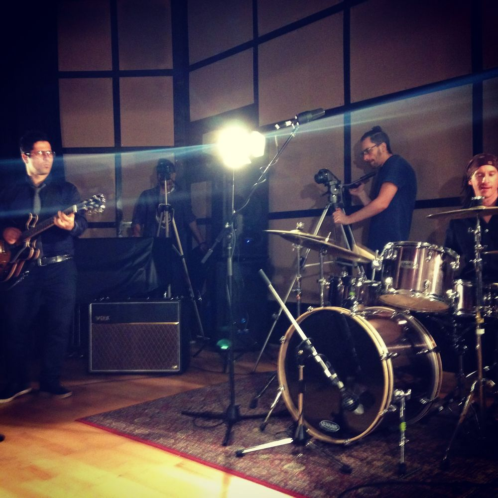 Soul Sauce shooting their demo video