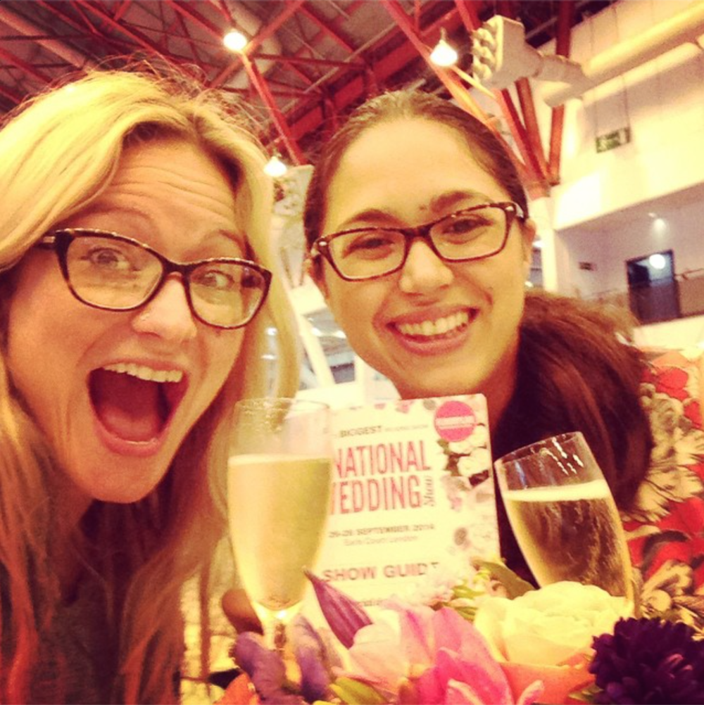 Bexes working hard at The National Wedding Fair
