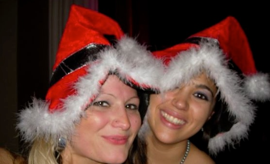 Bex and Bex love a Christmas Party!