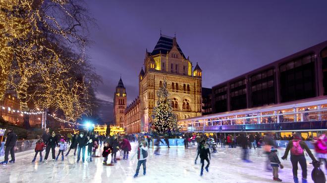 Ice Skating in London at Christmas