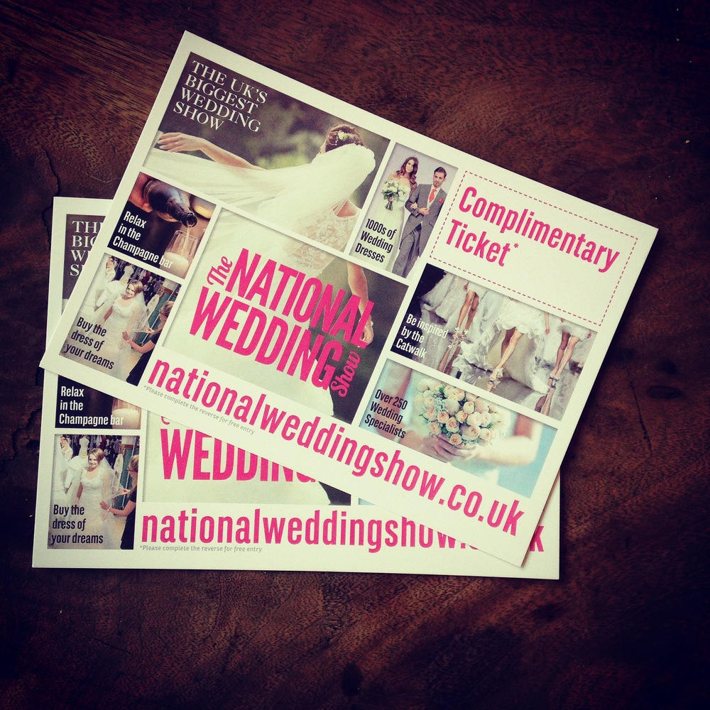 Win tickets to the National Wedding Show