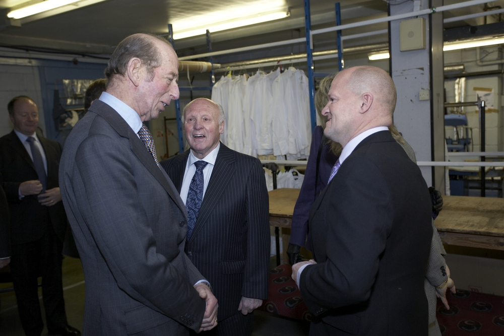 HRH The Duke of Kent chats with Walter & Nigel in 2009 - sadly both father and son have now passed away.