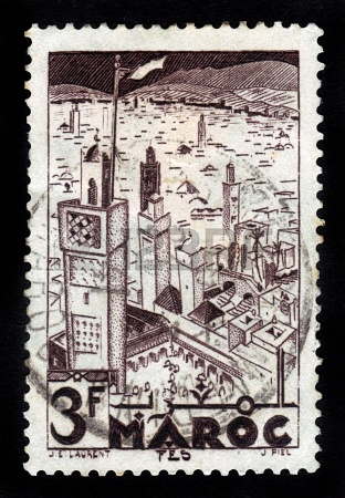16944475-morocco--circa-1951-a-stamp-printed-in-french-morocco-shows-mosques-of-fez-circa-1951.jpg