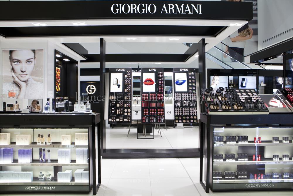 Giorgio Armani Cosmetic Fragrance Stand Bianca De