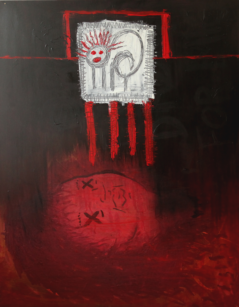 Caged Dreams  120 x 90 cm Oil on canvas 2013
