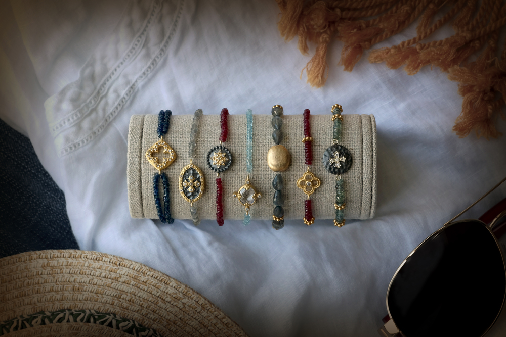 Gemstone Bead and Moroccan Charm Bracelets - Grouping.jpg