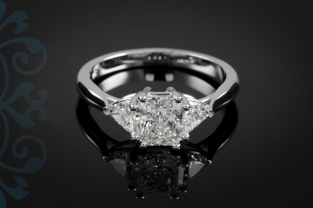 001-00949-001 - Custom Radiant Diamond Engagement Ring - Down.jpg