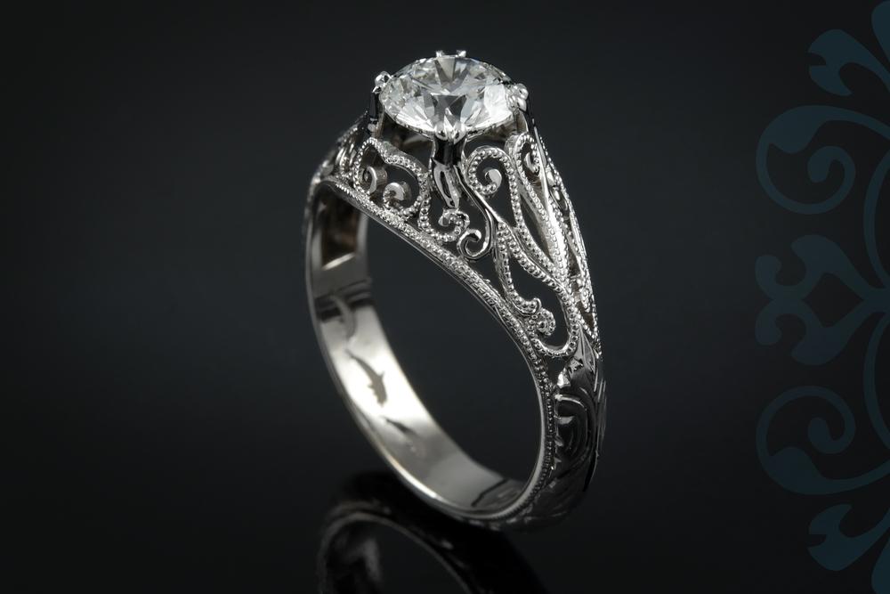 001-00896-001 - Custom Vintage Engagement Ring - Up.jpg