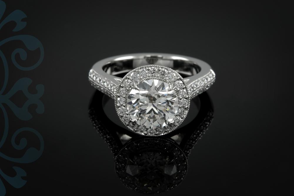 001-00917-001 - Custom Platinum Engagement Ring - Down.jpg