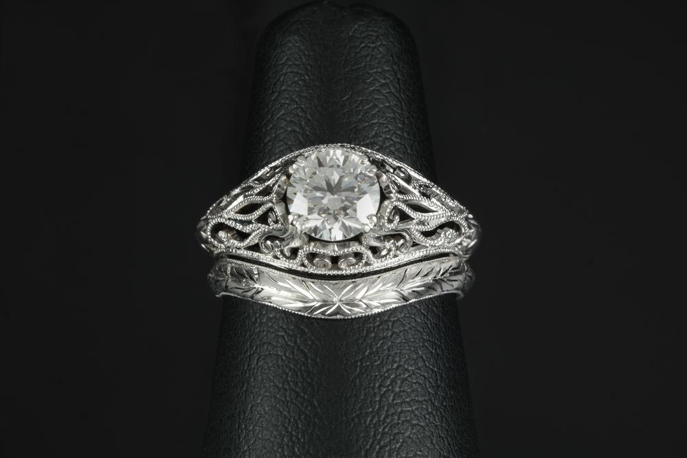 001-00896-001_Matching Engagement Ring and Wedding Band_Top Detail.jpg