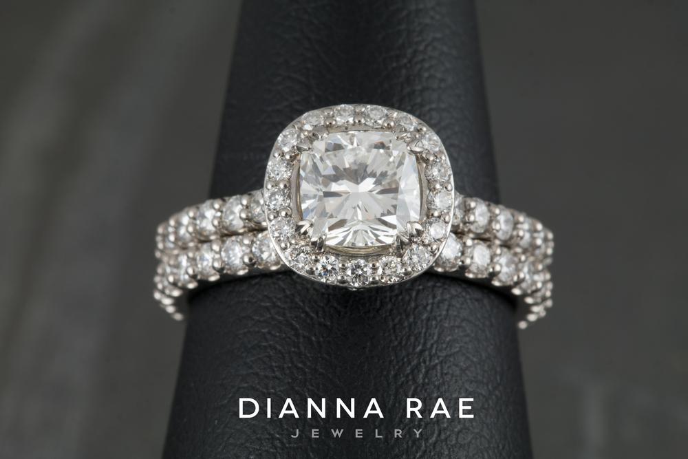 001-02564-001_Matching Paladium Diamond Wedding Band and Engagement Ring_Finger.jpg