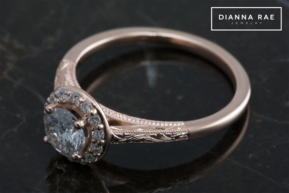 001-02584-001_Dylan Broussard_Rose Gold Hand Engraved Halo Ring_Down.jpg