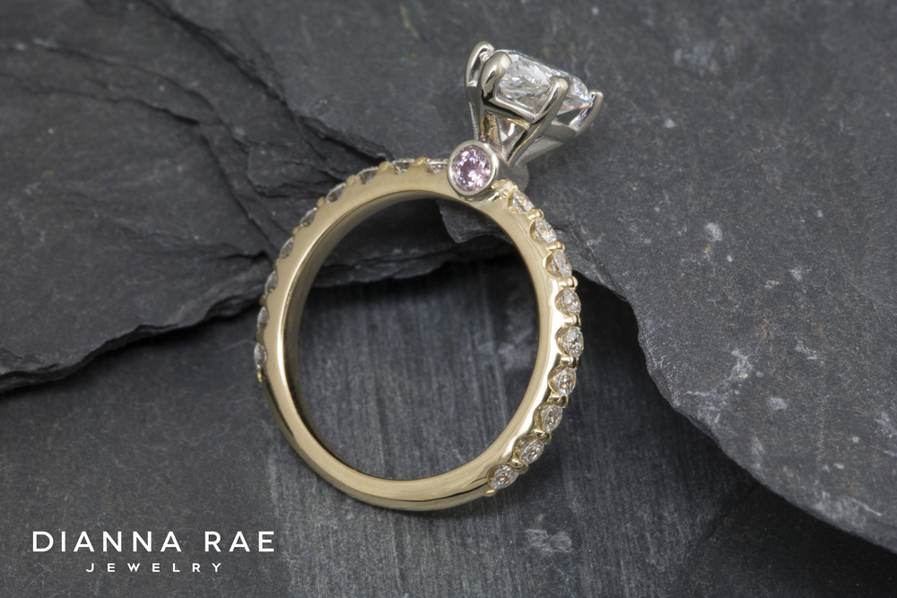 001-02929-001_Custom Two-Tone Engagement Ring With Pink Diamond Accents_Up.jpg