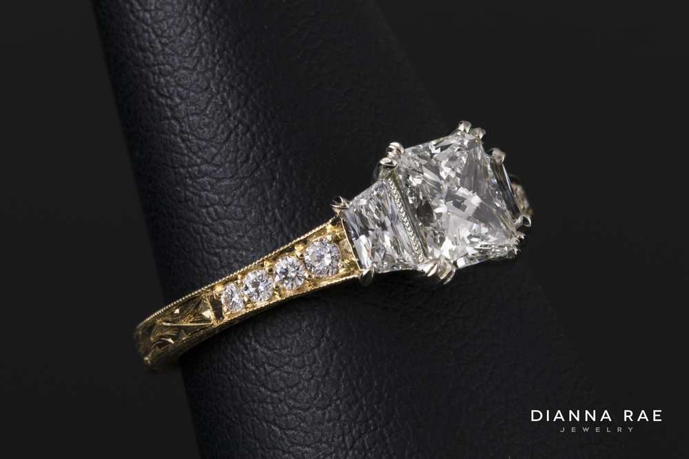 Vintage Hand Engraved Diamond Ring_side up 2.jpg