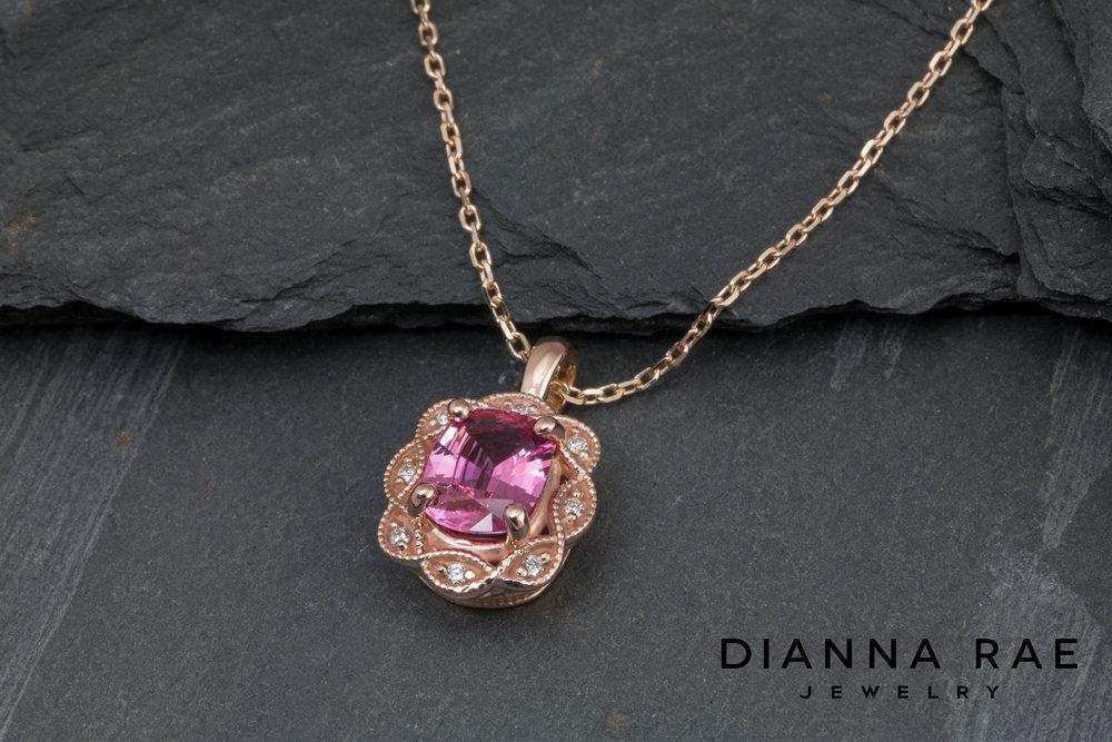 DRJ4021 - Vintage Inspired Rose Gold Spinel Pendant.jpg