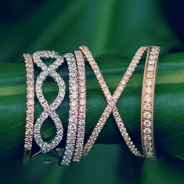 Loving our new stackable diamond rings for the holiday!