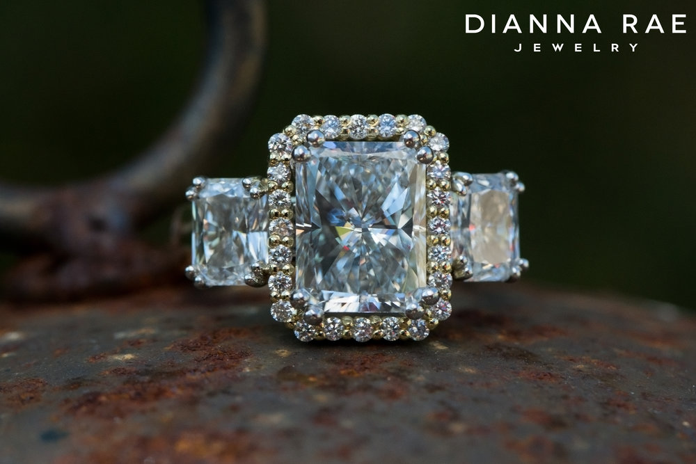 001-02804-001_Custom Radiant Three Stone Engagement Ring with Center Halo_Down2.jpg