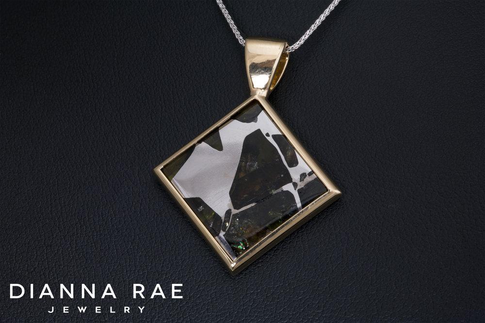 DRJ4027_Meteorite and Yellow Gold Pendant_Ladies.jpg