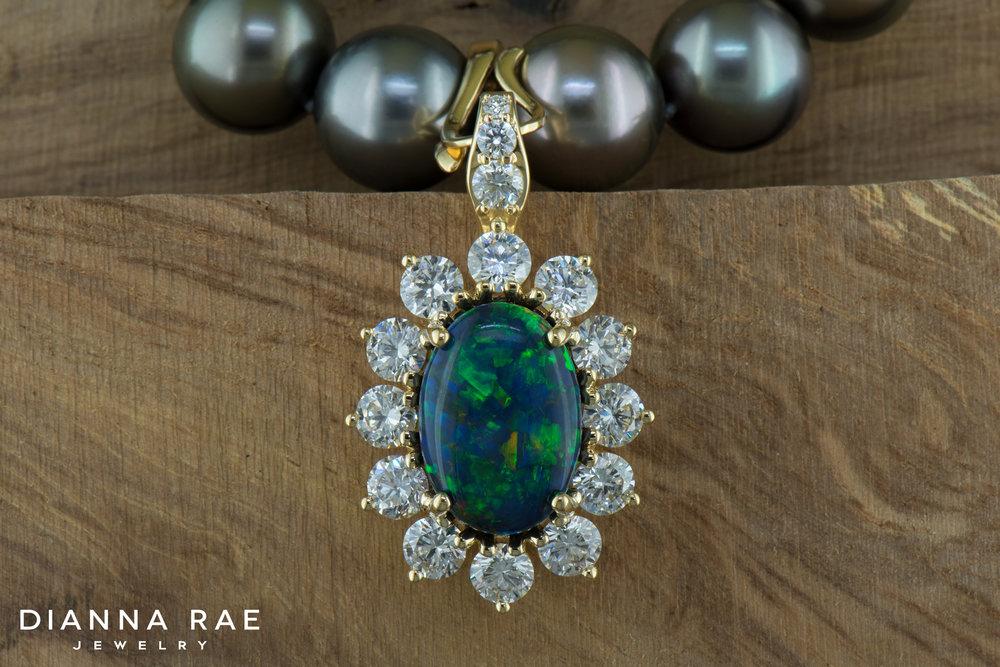 001-04113-007_Custom Rare Black Opal and Diamond Pendant on Tahitian Pearls 01.jpg