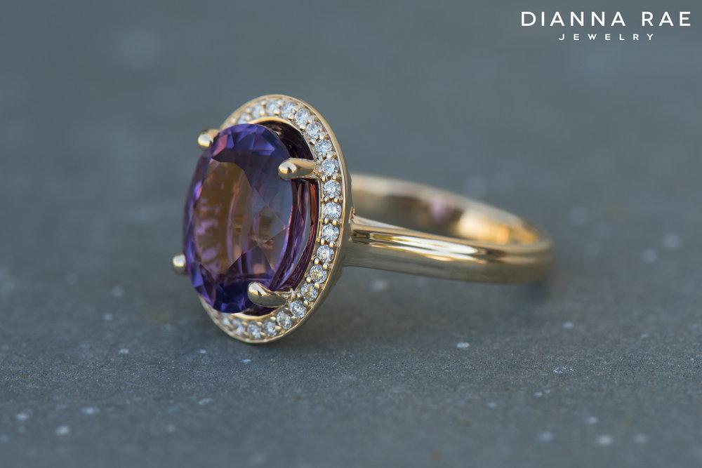 001-04307-001_Custom Yellow Gold Amethyst Ring with Diamond halo.jpg