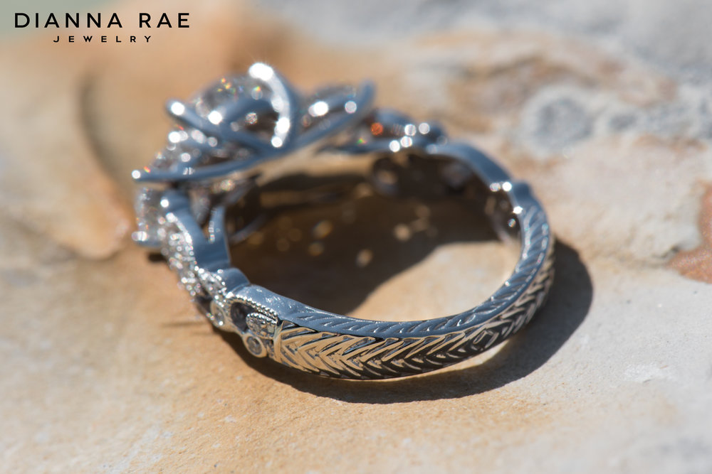 001-03995-001_Custom Three Stone Engagment Ring with Engraved Filigree Shank 02.jpg