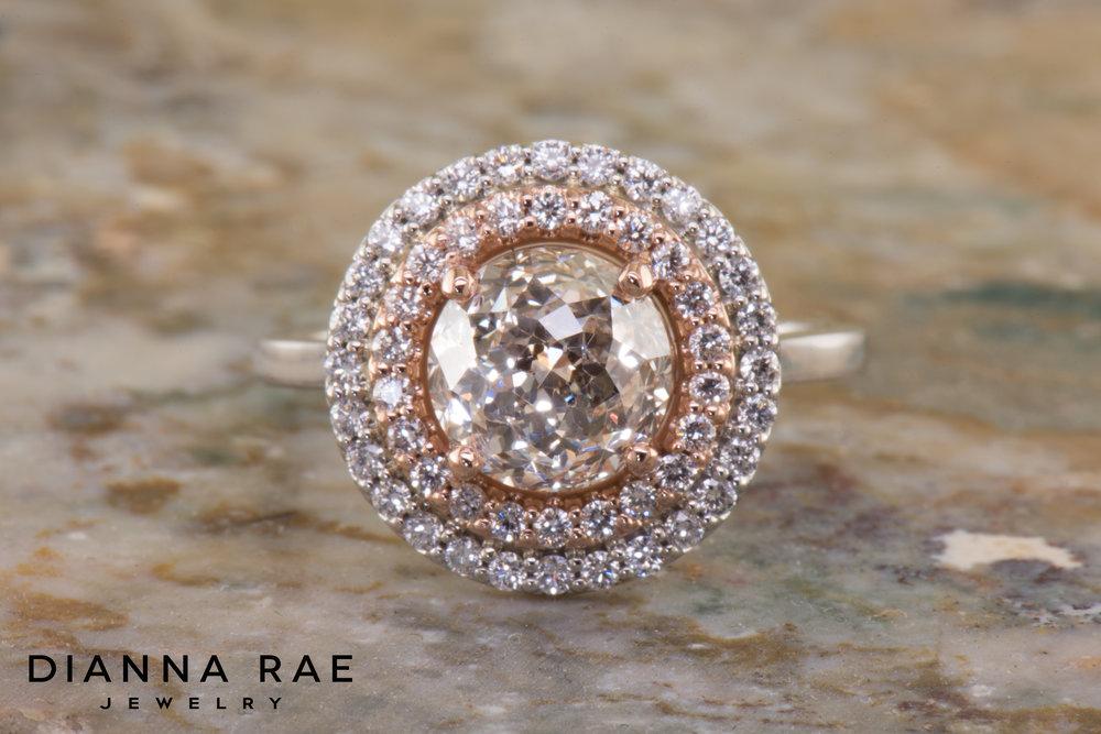 001-04751-001_Custom Two-tone Double halo Crown Cut Diamond Engagement Ring 02.jpg