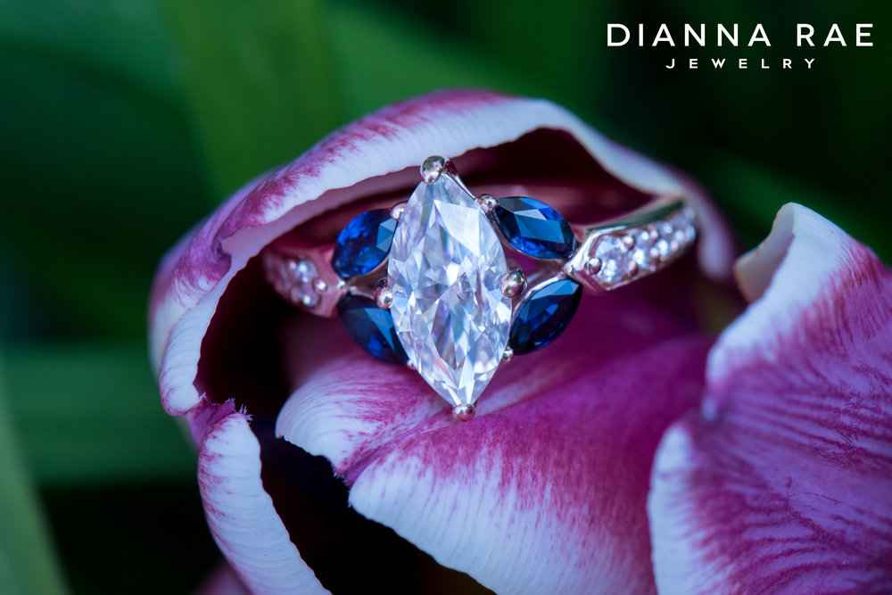 001-04556-001_Custom Rose Gold Marquis Sapphire and Moissanite Engagement Ring.jpg