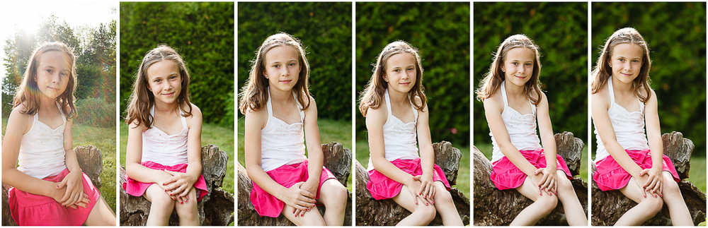 Compression of the background by using a longer focal length.