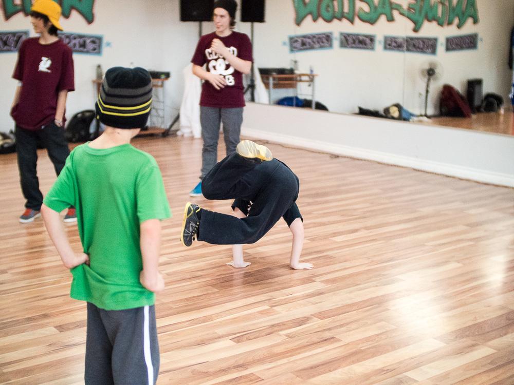 Workshop de BBoy Bourrik à Sherbrooke le 7 décembre 2014