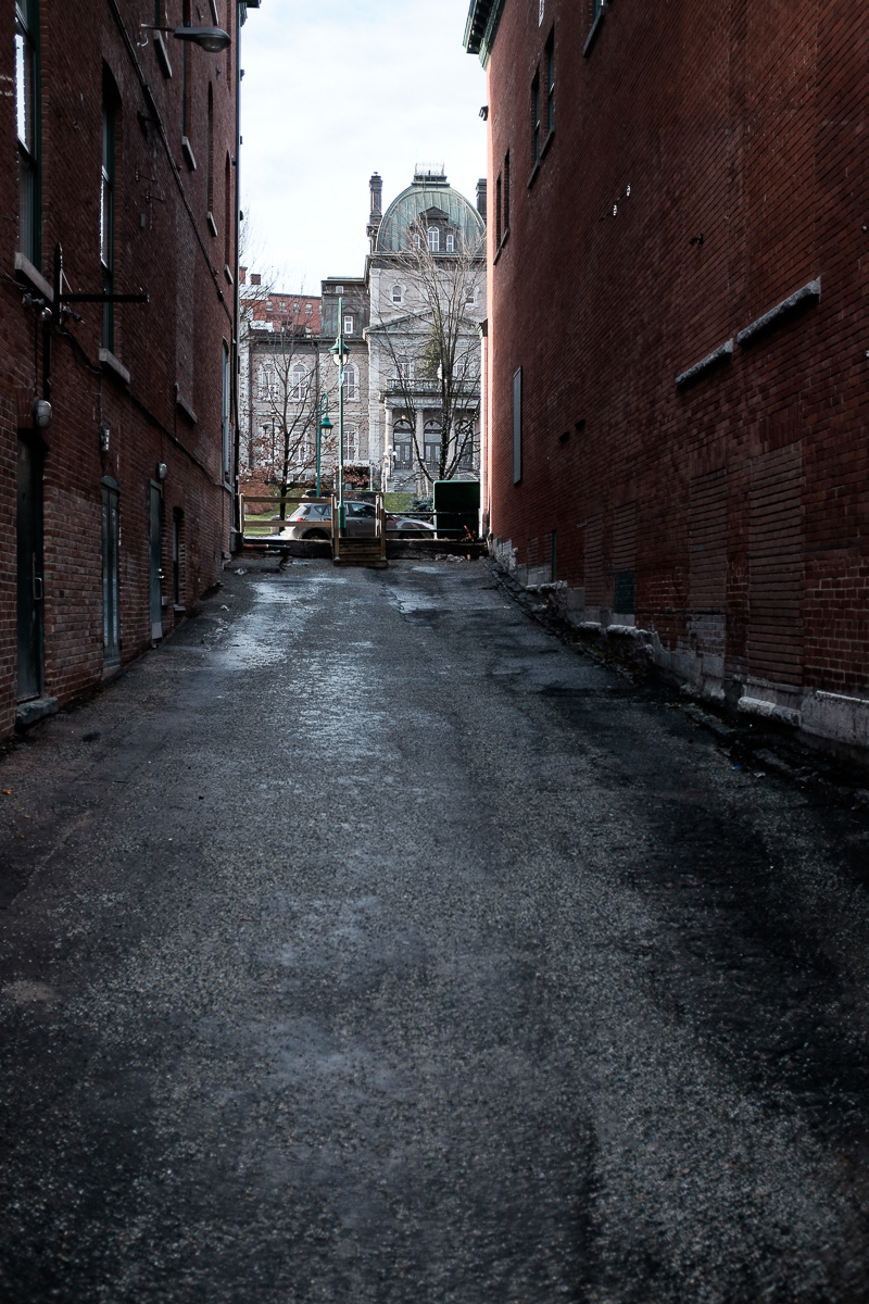Alleyway with the City Hall at the end