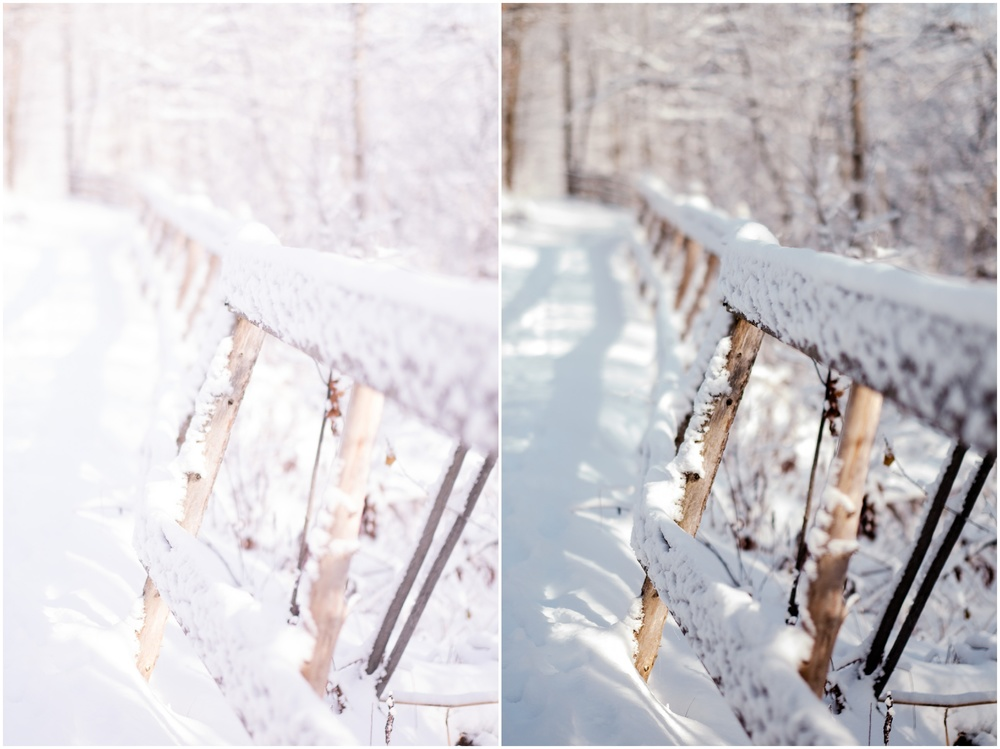 Overexposed image from the Fuji X-T1 on the left and how it looks after going through Lightroom on the right.