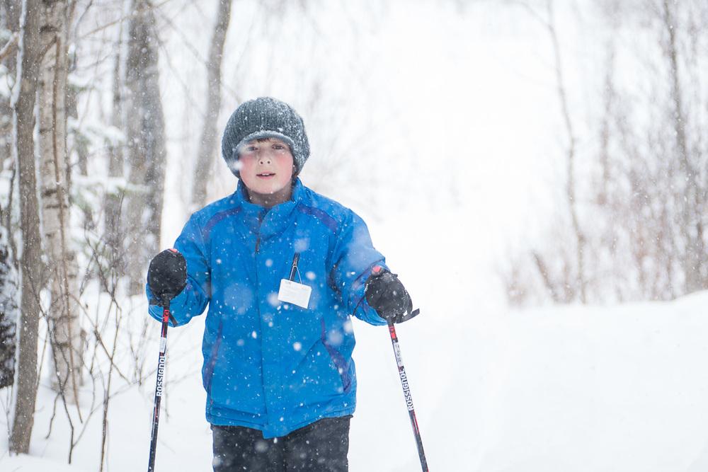 Il neigeait un petit peu quand nous sommes allés faire du ski c