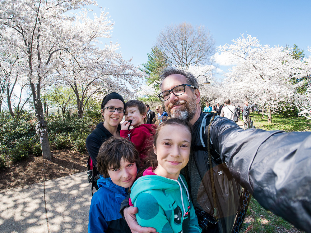 Un selfie au fisheye dans le Roosevelt Memorial