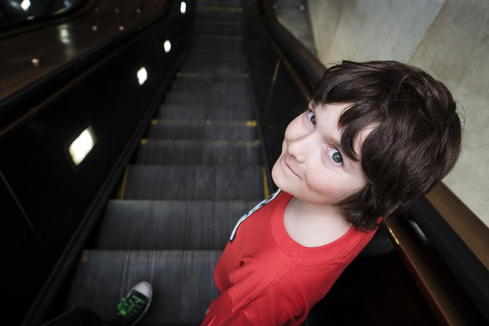 Raphaël dans le métro